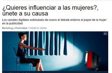 @AnaFdezz in Lavanguardia.com: how to influence the female target